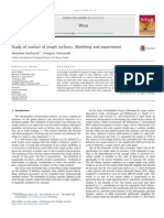 Study of Contact of Rough Surfaces Modeling and Experiment 2014 Wear