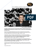 Press Release March 2010 Craig Charles To