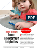 Teaching Your Child to Become Independent with Daily Routines