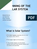 Beginning of the Solar System