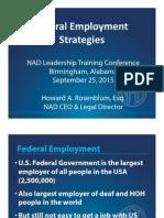 Federal Employment Strategies