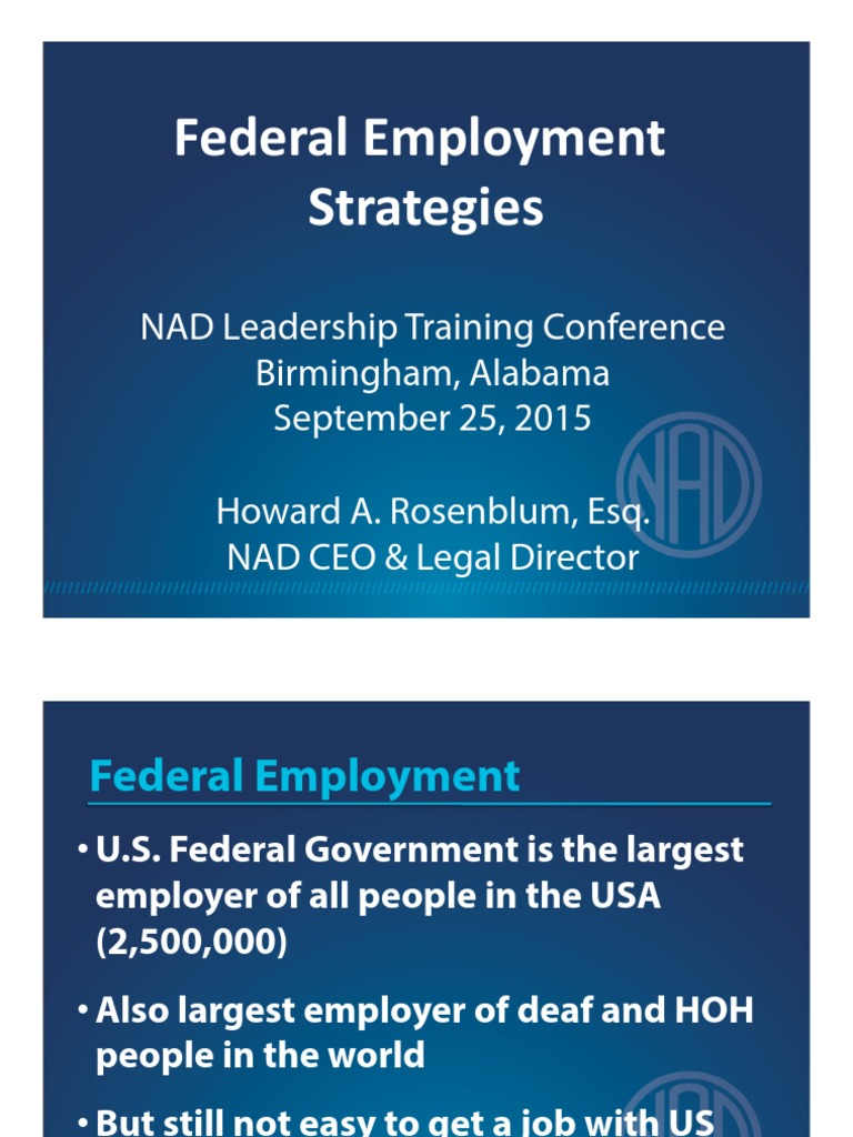 Federal Employment Strategies