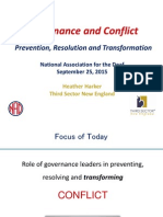 Governance and Conflict