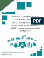Contabilidad Conceptos Básicos. Déficit y Deuda Pública. SEC95 y Normas Internacionales de Contabilidad.