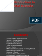 Introduction to Capital Market