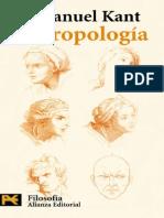 Kant, Antropología (Alianza)