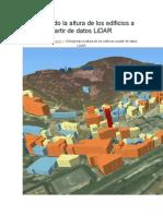Extrayendo La Altura de Los Edificios a Partir de Datos LiDAR