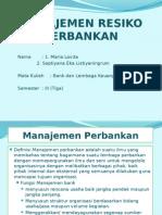 Manajemen Resiko Perbankan Unikal Sms 01