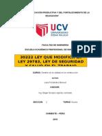 Gestion de la calidad LEY 30222 modificada.