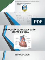 Fisiología Cardíaca Según Etapas de Vida