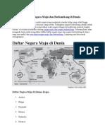 Daftar Negara Maju Dan Berkembang Di Dunia