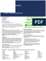 DSV Cargo Inusrance Tariff