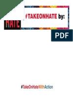 #TAKEONHATE Week of Action Pledge Card