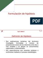 4. Formulacion de Hipotesis