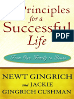 5 Principles for a Successful Life -- by Newt Gingrich --  Excerpt