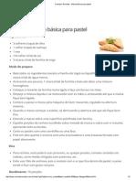 Comida e Receitas - Massa Básica Para Pastel