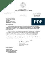Judge Cofer Retirement Letter