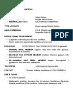 Stratigraphy-Upper Indus Basin