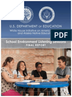 School Environment Listening Sessions Final Report