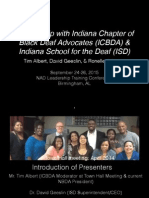 Partnership with Indiana Chapter Black Deaf Advocate and Indiana School for the Deaf