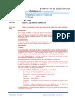 Especificaciones Tecnicas Arquitectura Cerro de Pasco