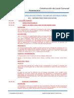 Especificaciones Tecnicas Estructuras Cerro de Pasco