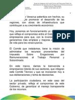 24 03 2011 Instalación del Comité Técnico del Fideicomiso Público de Administración del Impuesto sobre Erogaciones por Remuneraciones al Trabajo Personal y Subordinado