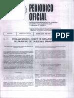 Reglamento Del Comite de Obras Publicas