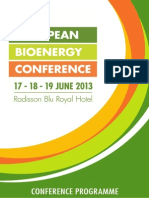 AEBIOM Conference Programme 2013