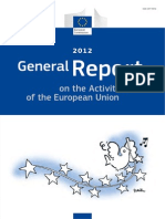 General Report on the Activities of the European Union 2012