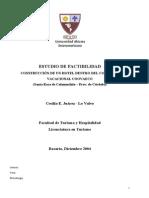 ESTUDIO DE FACTIBILIDAD PARA LA CONSTRUCCIÓN DE UN HOTEL