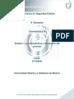 Unidad 1. La criminal�stica y los actores del proceso