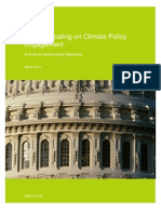BSR Communicating on Climate Policy Engagement