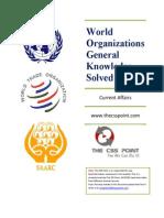 World Organizations General Knowledge MCQs
