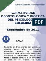 Presentacion Manual Deontologico Septiembre 2011