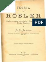 Teoria Lui Rosler Pag Titlu Introducere I A.D.XENOPOL