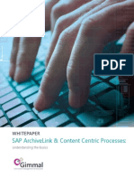 Gimmal White Paper_SAP ArchiveLink Content Centric Processes