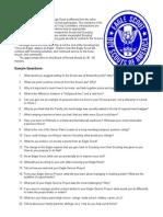 Eagle Board Sample Questions