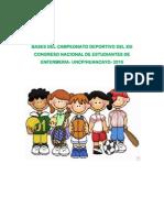 Bases Del Campeonato Deportivo Xiii Congreso Nacional de Estudiantes de Enfermeria