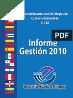 Informe 2011 General IIICAB