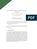 Topico_III.- Sobre Competencia, Poder de Mercado y Estrategia