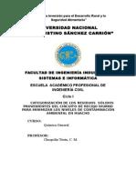 ProyectoCATEGORIZACIÓN DE LOS RESIDUOS  SÓLIDOS PROVENIENTES DEL CIRCUITO DE RECOJO DIURNO PARA MINIMIZAR LOS NIVELES DE CONTAMINACIÓN AMBIENTAL EN HUACHO de Investigación Arreglado