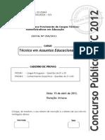 UFC-CE CCV Técnico Em Assuntos Educacionais 2012