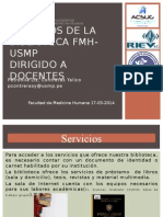Servicios de La Biblioteca Docentes Fmh-usmp