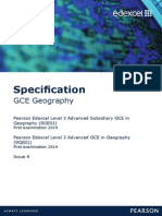 geography Specification
