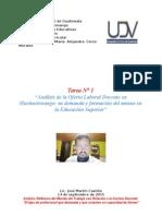 Tarea N° 1 Diseño Curricular Maestría Docencia UDV