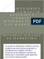Intermediarios en El Comercio Exterior y Los Canales Internacionales de MÁrketing