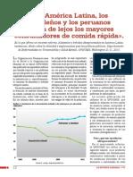 «En América Latina, los brasileños y los peruanos fueron de lejos los mayores consumidores de comida rápida»