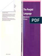 35.the Panjabi Language a Descriptive Grammar