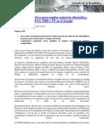 15-10-15 Fortalecer a Profeco para regular comercio cibernético, proponen PRI, PAN, PRD y PT en el Senado